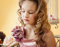 Portrait of beautiful smartly dressed girl Stock Photos