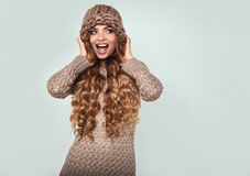 Portrait of beautiful smiling blond woman Royalty Free Stock Images