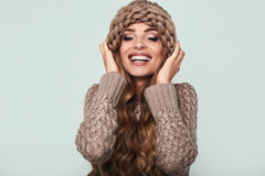 Portrait of beautiful smiling blond woman Stock Photography