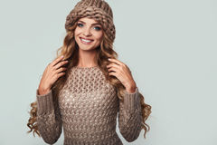 Portrait of beautiful smiling blond woman Stock Images
