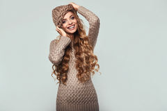 Portrait of beautiful smiling blond woman Royalty Free Stock Photography