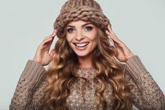 Portrait of beautiful smiling blond woman Stock Photo