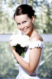 Portrait of the beautiful smiling bride Royalty Free Stock Image