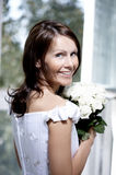 Portrait of the beautiful smiling bride Royalty Free Stock Photos
