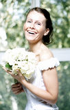 Portrait of the beautiful smiling bride Stock Image