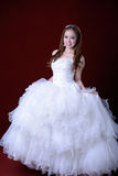 Portrait of beautiful smiling bride Royalty Free Stock Photography