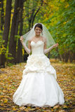 Portrait of a beautiful smiling bride Royalty Free Stock Photo
