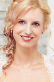 Portrait of beautiful smiling bride Royalty Free Stock Images