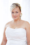 Portrait of beautiful smiling bride Stock Image
