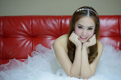 Portrait of beautiful smiling bride Royalty Free Stock Image