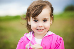 Portrait of beautiful smiling carefree girl Royalty Free Stock Photography