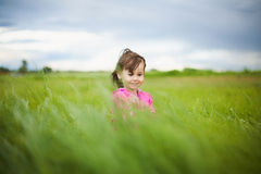 Portrait of beautiful smiling carefree girl Stock Image