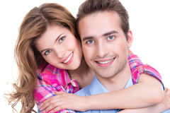 Portrait of beautiful smiling couple. Royalty Free Stock Photography
