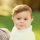 Portrait of beautiful smiling cute baby boy Royalty Free Stock Photo