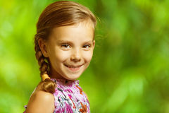 Portrait of beautiful smiling girl Stock Image