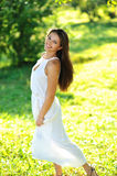 Portrait of beautiful smiling girl on nature Stock Photography
