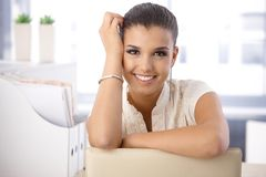 Portrait of beautiful smiling girl Stock Images