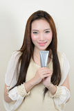 Portrait of beautiful  smiling healthy asian woman Stock Photo