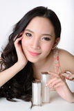 Portrait of beautiful smiling healthy asian woman model Royalty Free Stock Image