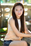 Portrait of beautiful  smiling healthy woman Royalty Free Stock Images