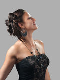 Portrait of the beautiful smiling lady Royalty Free Stock Photos