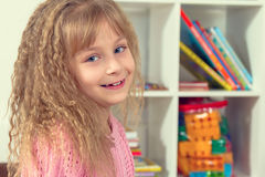 Portrait of a beautiful smiling little girl Stock Images