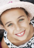 Portrait of beautiful smiling little girl Royalty Free Stock Images