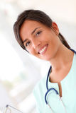Portrait of beautiful smiling nurse Royalty Free Stock Images