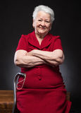Portrait of beautiful smiling old woman Royalty Free Stock Photos