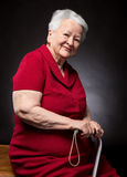 Portrait of beautiful smiling old woman Stock Photos