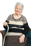 Portrait of a beautiful smiling senior woman Stock Images