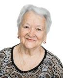 Portrait of a beautiful smiling senior woman Stock Photos