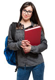 Portrait of a beautiful smiling student Stock Photo