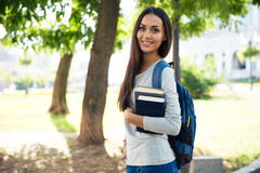 Portrait of a beautiful smiling student Stock Images