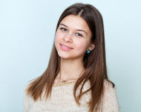 Portrait of a beautiful smiling teenage girl Stock Photos