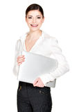Beautiful smiling woman with laptop Stock Photography