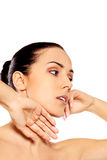 Portrait of beautiful spa woman Royalty Free Stock Photography