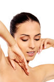 Portrait of beautiful spa woman Royalty Free Stock Images