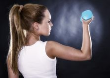 portrait of a beautiful sporty muscular woman Royalty Free Stock Photo