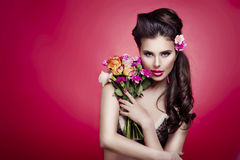 Portrait of a beautiful spring girl Royalty Free Stock Images