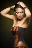 Portrait of a beautiful steampunk woman Royalty Free Stock Photography