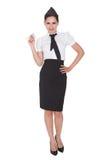 Portrait of beautiful stewardess Royalty Free Stock Photos