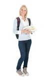 Portrait of beautiful student girl Royalty Free Stock Image