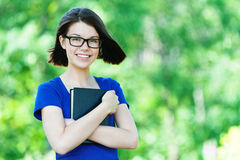 Portrait beautiful student glasses Stock Images
