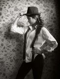 Portrait of beautiful stylish brunette Royalty Free Stock Photos