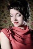Portrait of the beautiful stylish brunette woman Stock Photography
