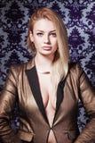 Portrait of beautiful stylish lady. Royalty Free Stock Photos