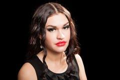 Portrait of beautiful stylish woman Stock Photography