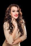 Portrait of beautiful stylish woman Stock Photos