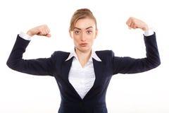 Portrait beautiful success business woman stock images